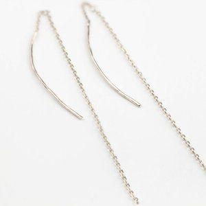 NWOT 14k White Gold Threader Earrings